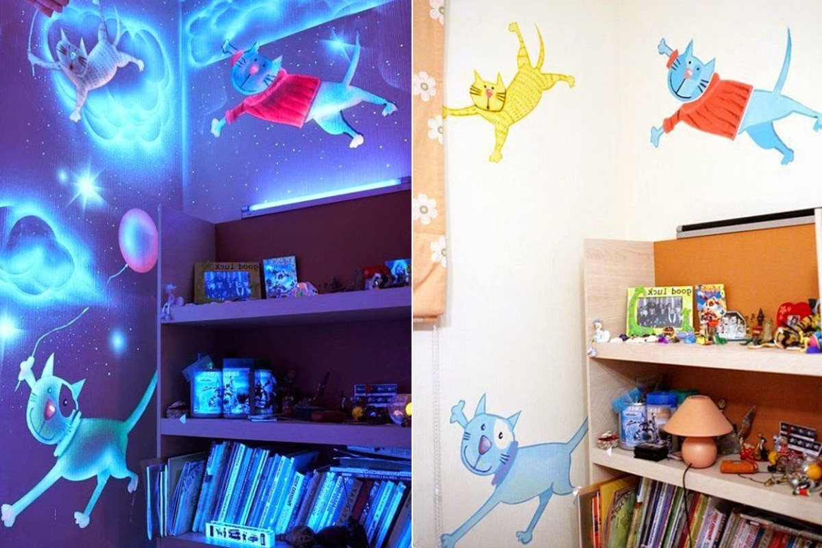 Glow in the dark verf kinderkamer