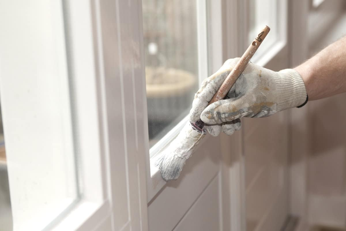 raam schilderen langs binnen