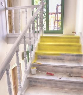 schilderen trap